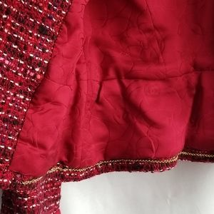 CHANEL Jackets & Coats - CHANEL  Blazer -Belted ,Wool tweed multicolor. siz